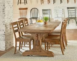 Kitchen Table Settings Magnolia Home Farmhouse Keyed Trestle Dining Table Setting