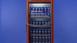 Bud Light Vending Machine Classy Cleveland Browns Finally Win And Fans Get Free Bud Light CNET