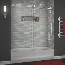 enigma z 56 to 59 frameless sliding tub door clear 3 8