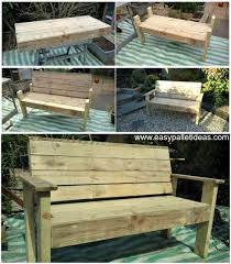 bench from pallets pallet bench pallet furniture pallet ideas pallet projects