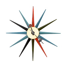 superb midcentury wall clock  mid century modern atomic wall