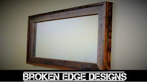 mirror frame. Reclaimed Wood Mirror Frame