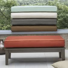 Yasawa Wood Grey Patio Cushioned Rectangular Coffee Table Ottoman iNSPIRE Q  Oasis by iNSPIRE Q