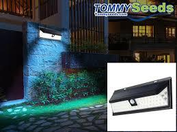 led solar light 2835 smd white solar power outdoor garden light pir motion sensor pathway wall