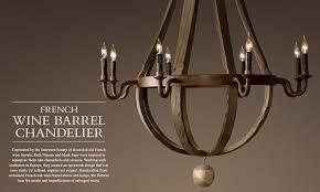 tier chandelier waxed rust special 2450 wine barrel 5 arm chandelier restoration hardware lighting