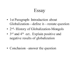globalization help or hindrance does globalization help or hurt  8 essay 1st paragraph introduction about globalization define