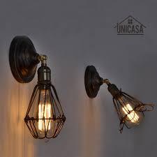 Us 2063 48 Offvintage Indoor Wandleuchten Küche Antike Wandleuchte Schmiedeeisen Industrie Kronleuchter Beleuchtung Braun Moderne Kleine Led