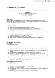Accounts Receivables Resume Templates For 2013 A Good Resume Example