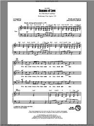 rent seasons of love sheet music huff seasons of love from rent sheet music for choir 3 part mixed