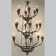 27521 c 3 acanthus leaf hand carved wood chandelier
