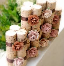 Chocolate Latte Place Card Holders - Vineyard Collection, Set of 10,  Repurposed Wine Corks for Wedding Reception or Bridal Shower
