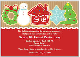 Christmas Holiday Invitations Christmas Cookie Swap Exchange Holiday Invitations