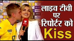 Female Reporter Kissed by Player | Oleksandr Zinchenko | Opinion Post
