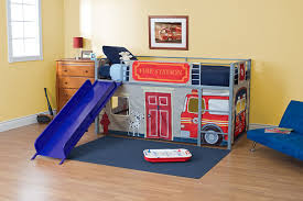 cool loft beds for kids. Amazon.com: DHP Curtain Set For Junior Loft Bed With Fire Department  Design: Kitchen \u0026 Dining Cool Loft Beds Kids