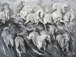 making waves large box canvas painting original acrylic horse racing painting by newmarket artist jacqui jones