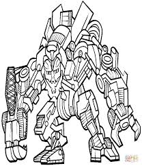 Coloring Pages Megatron Coloring Page Transformers Book
