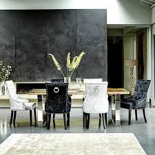 terrific black velvet dining chairs in 2529 chair with lion knocker