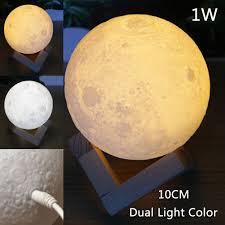 3d usb led magical moon night light moonlight table desk lamp base for gift