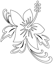 printable hibiscus coloring pages for kids hawaiian flower best of color