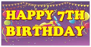 Happy Birthday Sign Templates Happy 7th Birthday Birthday Banner Templates Design Templates
