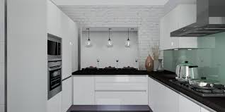 White Modern Kitchen Meridian Interior Design And Kitchen Design In Kuala Lumpur