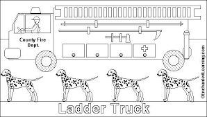 Small Picture Fire Truck Online coloring page EnchantedLearningcom
