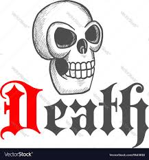 Gothic Skull Design Gothic Skull Icon For Halloween Mascot Design