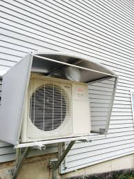 How To Install A Heat Pump Ductless Heat Pump Covers And Shelters