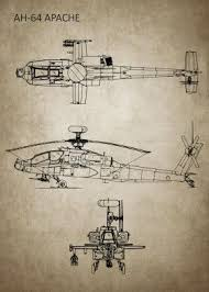 Helicopter Recognition Chart Ah64 Apache Usahelicopter Blueprint Helicopter Blueprint