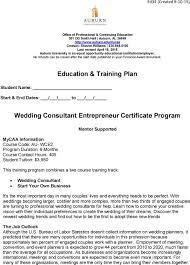 Education Training Plan Wedding Consultant Entrepreneur