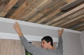basement wood ceiling ideas. Rustic Wood Ceiling DIY By Maple Leaves And Sycamore Trees Featured On Remodelaholic Basement Ideas