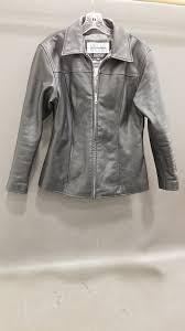 womens wilsons pelle studio leather jacket sz m