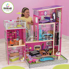 Kidkraft Bedroom Furniture Kidkraft Uptown Wooden Dollhouse With 35 Pieces Of Furniture Hd