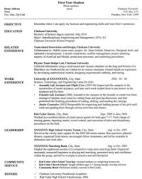 Sample Resume For Any University Student Experience Resumes