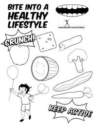 Small Picture Reader Request Nutrition Month Coloring Pages