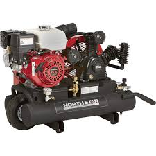 portable gas air compressor. free shipping \u2014 northstar gas-powered air compressor honda gx270 ohv engine, 8-gallon twin tank, 14.9 cfm @ 90 psi | gas powered compressors| northern portable t