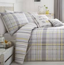 rathmore silver tartan check duvet cover set