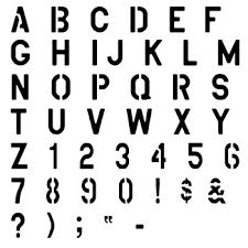 Number Stencil Font Military Alphabet Stencil Set Sp Stencils