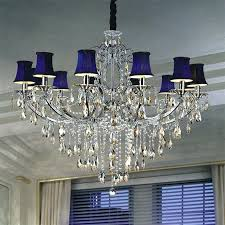 crystal chandelier with shade with black