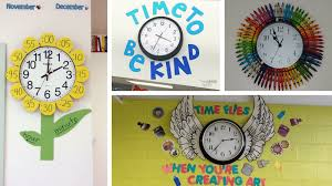 Classroom Wall Decoration With Charts Classroom Clock Decor And Upgrade Ideas Weareteacehrs
