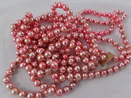 light pink vintage mercury glass bead tree garland 9