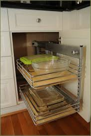 stainless holder blind corner kitchen cabinet organizers tiny netting side storage wooden rectangle tray placing white glossy cabinets pull out shelves