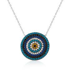 ms silver evil eye bead necklace ij1 1798 ic jewelry