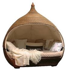 Unique Rattan Bed