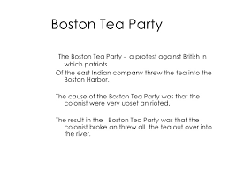 Boston Tea Party Cause And Effect Chart Events Leading To The Revolution