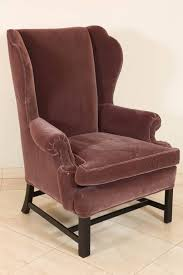 hollywood regency french style mohair club chair plum color for