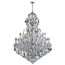 worldwide lighting maria theresa 48 light polished chrome with clear crystal chandelier