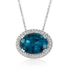 6 00 carat london blue topaz and 23 ct