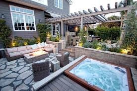 Backyard Hot Tub Patio Designs Patio Designs