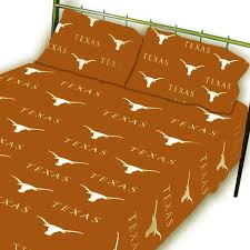 ncaa texas longhorns collegiate orange full bed sheet set